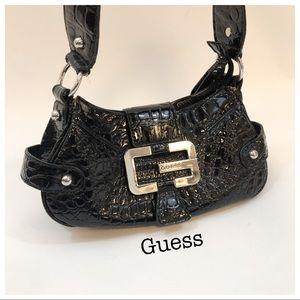 Guess Black Small Shiny Shoulder Bag